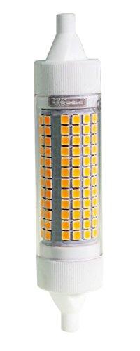 ECOBELLE Lampadina LED R7s *HYPERNOVA*, 20W, 2500 Lumen, Bianco Caldo 3000K, Lampadina Lineare 118mm x 25mm- Lampadina Ultrapotente con corpo in Ceramica