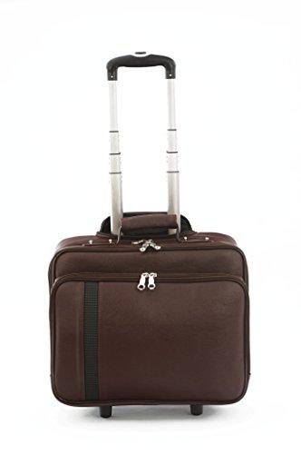 Mboss 45 Ltrs Brown Laptop Roller Case (ONT022)