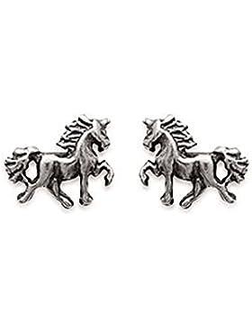 Ohrringe Sterling Silber 925/000Nägel Form Pferd Pferde