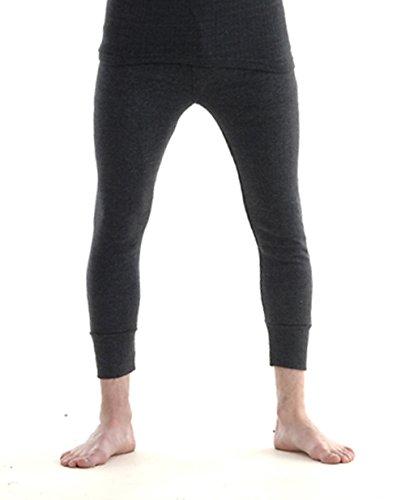 Silk Cashmere Ribbed Knit Men Thermal Pant Long Johns Bottom