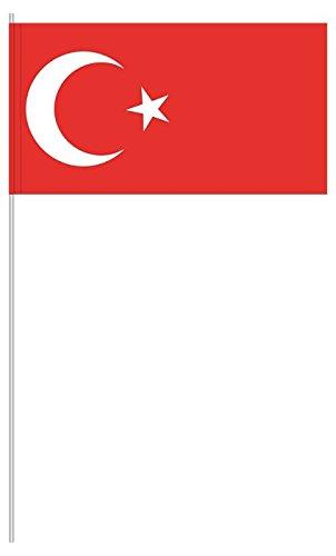 """Preisvergleich Produktbild 10 x Papierfähnchen """"Türkei"""" - partydiscount24®"""