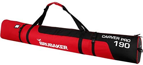 Brubaker - Bolsa de esquíes con cierre de cremallera rojo negro /rojo Talla:190 cm