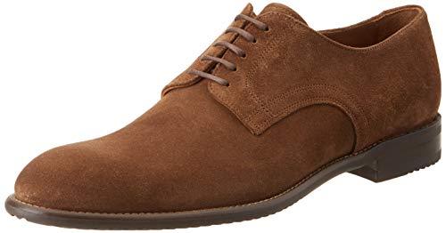 Lottusse L6870, Zapatos de Cordones Derby para Hombre, Marrón Camoscio Marron Camoscio Marron, 44...