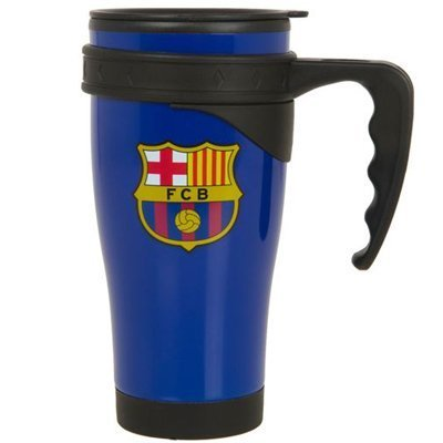 F.c. Barcelona Aluminium Travel Mug Bl- 450ml Aluminium Thermos Travel Mug- Official Licensed Product by Barcelona F.C.