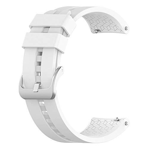 YouN Sports Silikon Uhrenarmband für Huawei Uhr GT Elegant 42mm (Weiß) - Zustand Kordelzug