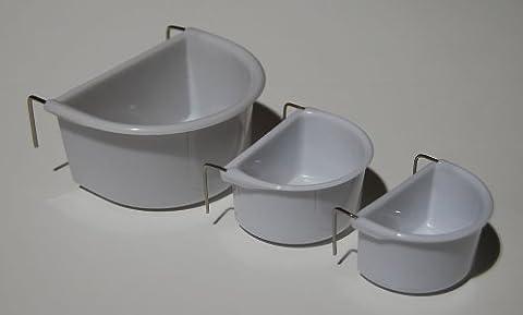 CCMED/FY031WB Mangeoire en plastique pour cage à oiseaux en plastique Taille moyenne
