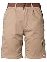 Planam HIGHLINE Arbeitshose -Shorts XXXL Zink/Schiefer/Rot