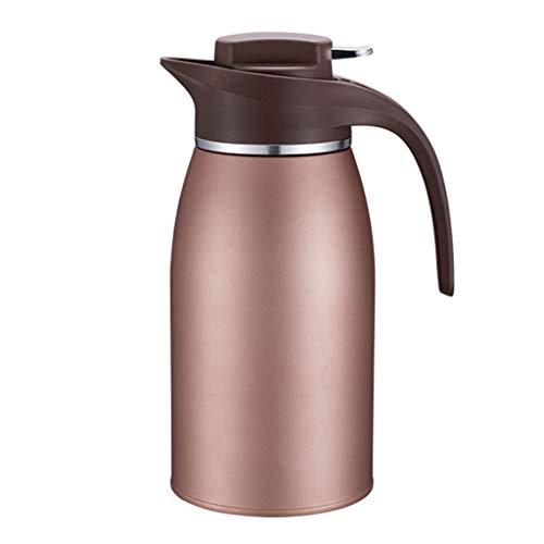 WLHW Trinkflaschen Thermoskannen, Edelstahl Große Kapazität Haushalt Outdoor Wärmflasche Langzeit Isolierung Kaffeesaft 2L O4 (Farbe : Champagner)