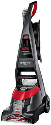 Bissell Black and Red Upright Deep Carpet Cleaner Vacuum Cleaner 800W - 2009K
