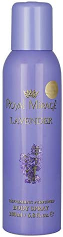 Royal Mirage Body Spray For Women, Lavender, 200 ml