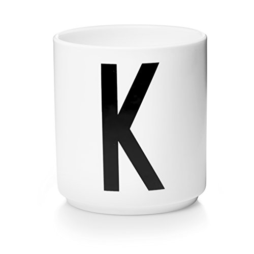 Design Letters - Becher - Buchstabentasse - Buchstabe: K - Porzellan - Arne Jacobsen