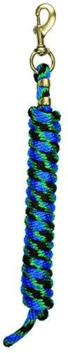 Weaver a scatto in pelle con corda in Poly 225di ottone massiccio, Black/Green/Blue