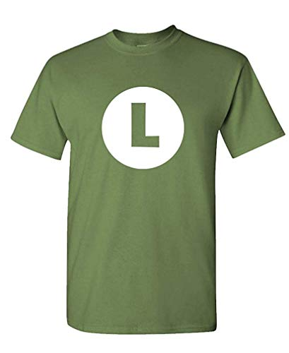 Luigi - Video Game Costume Halloween Funny - Mens Cotton T-Shirt - Luigi Kostüm Weiblich