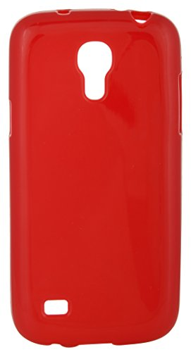 iCandy™ Colourful Thin Matte Finish Soft TPU Back Cover for Samsung Galaxy S4 Mini I9190 - RED