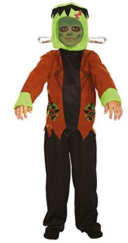 Fancy Me Jungen Frankenstein Monster Halloween Horror büchertag Kostüm Kleid Outfit 7-12 Jahre - Grün, 10-12 Years