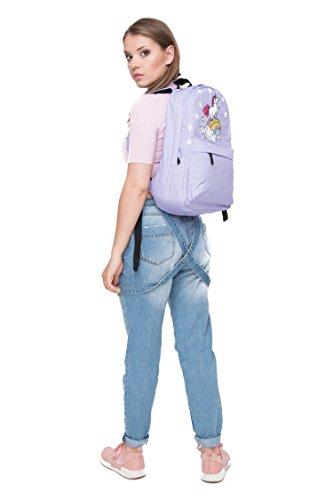 Unisex Jungen und Mädchen Rucksack für Schule und Reise, Rucksack für flache Kabine Gepäck, mit schönen Einhorn Design (Kabine Drucke)