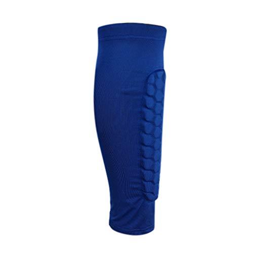SO-buts Wadenkom Pressions Hülse Beinkom Socken für Schienbeinschienen Wadenschmer Zlinderung, Männer und Frauen im Freien Basketball Reiten Bergsteigen Knöchelschutz Wadensocken(Blau,XL)