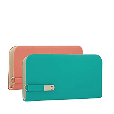 Wmm Craft Women's Combo Of 2 Clutches(Multicolor,Magnet-Pg)