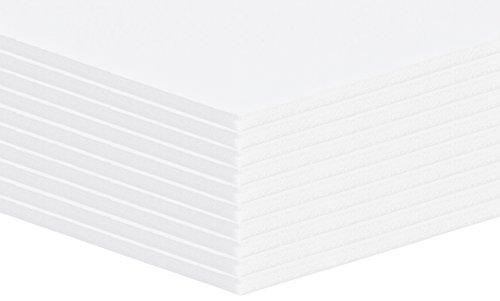 10 Stück Altera Leichtschaumplatte, Leichtstoffplatten Weiss Format: A3 (29,7x42cm)