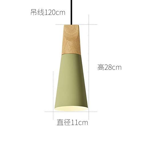 Cafe luz personalidad creativa que cuelga diámetro pequeño 11 cm verde lima...