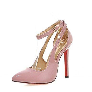 Damen-High Heels-Hochzeit / Büro / Kleid / Lässig / Party & Festivität-Kunstleder / Kunststoff / Lackleder-Stöckelabsatz-Absätze / Pink