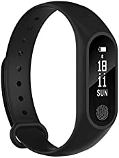 Rewy Sports Fitness Band with SMS, Bluetooth Sync Reminder, Heart Sensor, Walk and Health Tracker for Windows, IOS & Android Device (Colour May Vary)
