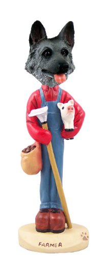 Deutsch Shepherd Black & Silver Farmer Doogie Collect Figurine -