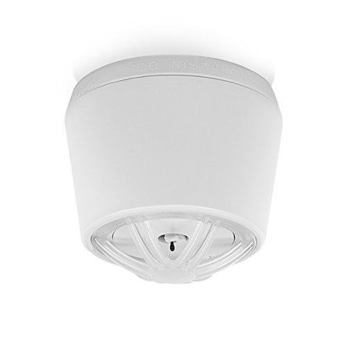 Smartwares RM640K 10-Jahres Mini-Hitzemelder für Räume Wie Bad/Küche, Maße Nur Ø50x43 mm