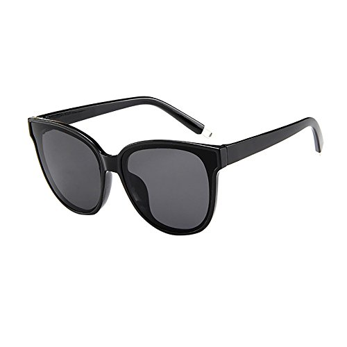 Battnot☀ Sonnenbrille für Damen, Unisex Verspiegelten Oversized Übergroße Vintage Katzenaugen Flache Top Mode Anti-UV Gläser Schutzbrillen Frauen Retro Billig Cat Eye Sunglasses Women Eyewear