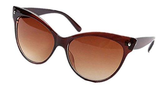 Ardisle Katze Auge Sonnenbrille Cateye Damen Frauen Retro Vintage Schattierungen Übergroßer Designer Groß (Braun)