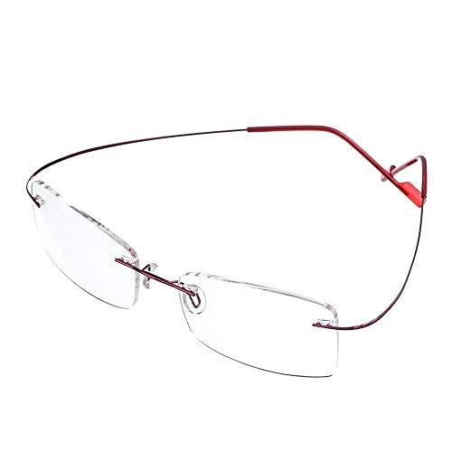 GEMSeven Unisex Ultra Light Flexible Frameless Brille Frauen Männer Randlose Lesebrille Diopter