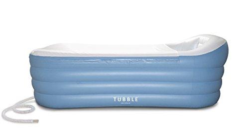 Neue verbesserte Version (2017): Tubble Aufblasbare Badewanne Erwachsenengröße - 255 Liter (255 Liter), neues model & viel stärkerer Reißverschluss