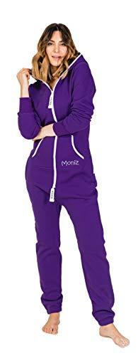 Moniz Damen Jumpsuit (XS, lila)