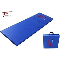 Fitem Colchoneta Plegable de gimnasia , gruesa, de gama alta - 180 x 60 x 4 cm - para gimnasio, yoga, artes marciales mixtas, deporte, gimnasia, fitness, pilates o musculación
