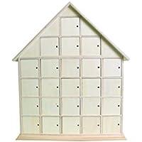 Artemio Calendario de Adviento (44,5 x 35 x 7 cm, madera sin tratar), diseño de casa