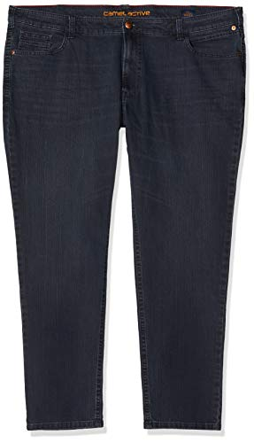 Camel Active Herren 5-Pocket Houston Straight Jeans, Blau (Blue/Black Used 43), W38/L34