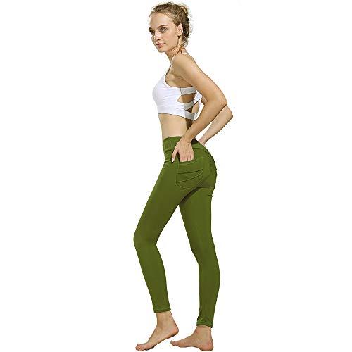 Damen Legging Yoga Jogginghose Schwarz Workout Fitness Sport Leggings hohe Taille Yoga Hose mit...