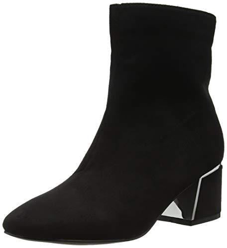 Lost Ink Damen Jessie Metal Heel Detail Ankle Boot Stiefeletten (Black 0001), 38 EU Damen-black Metal