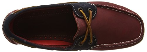 Chatham Galley, Chaussures Bateau Homme Rouge (Rouge/bleu marine)
