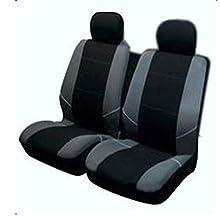 Universal Seat Cover Set, 4pc Set in Black/Grey