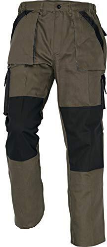 Stenso MAX - Herren Praktisch Arbeitshose Bundhose/Cargohose Baumwolle Braun 62 (Max Braun)