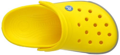 Crocs Band, Sabots mixte enfant Jaune (Yellow/Light Grey)