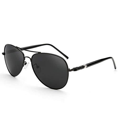 YIWU Brillen & Zubehör Flieger Sonnenbrille Frosch Spiegel Männer Polarisierte Gezeiten Coole Sonnenbrille Sport Driving Spiegel Angeln Lightweigt (Color : Black)
