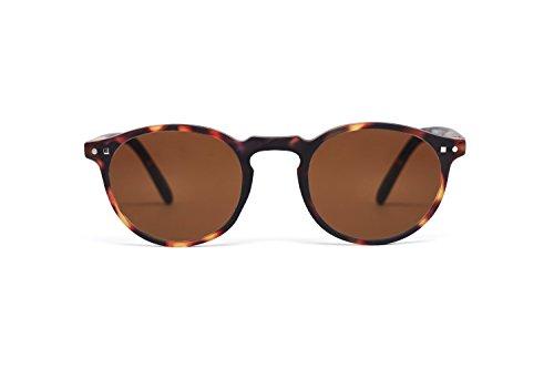 FEEGOO Sonnenbrillen für Männer/Frauen Unisex Eyewear Sunglasses kleine runde Form Braun 100% UV400 Gläser mit Antistatik-Behandlungen überlegene Qualität wasserabweisend