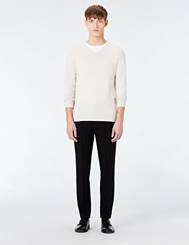 MERAKI Baumwoll-Pullover Herren mit V-Ausschnitt Beige (Linen)