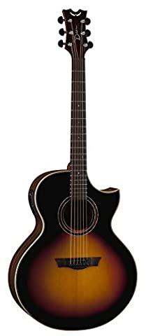Dean Guitars Natural Series Grand Auditorium Florentine Cutaway Electro Acoustic Guitar with Aphex - Tobacco Sunburst