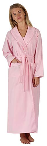 The 1 for U Damen Bademantel, 100% Baumwolle, Abigail - Pink - X-Small -
