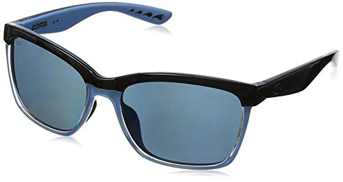 Neue Costa del Mar ANA97OGGLP Womens Black Frame Licht Blue Lens Wrap Sonnenbrillen