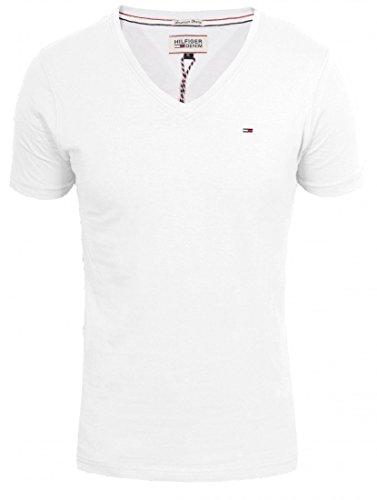 Tommy Hilfiger Panson Vneck Tshirt für Herren , Farbe:White;Größe:M