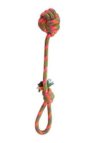 Mountain Warehouse Hundeseil mit Ball - 36 cm x 8 cm, leichtes Hundespielzeug, Seil zum Ziehen mit Hundeball - Ideales Hundespielzeug für kleine und große Tiere Orange